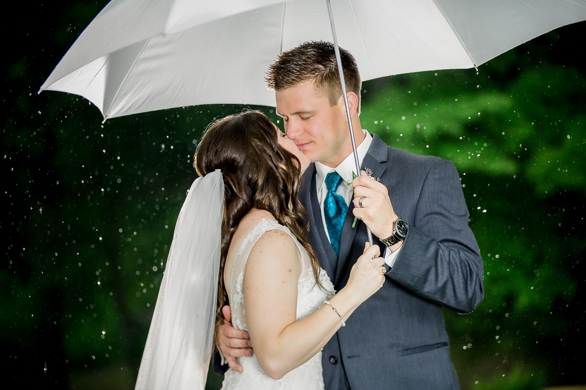 kissing in rain